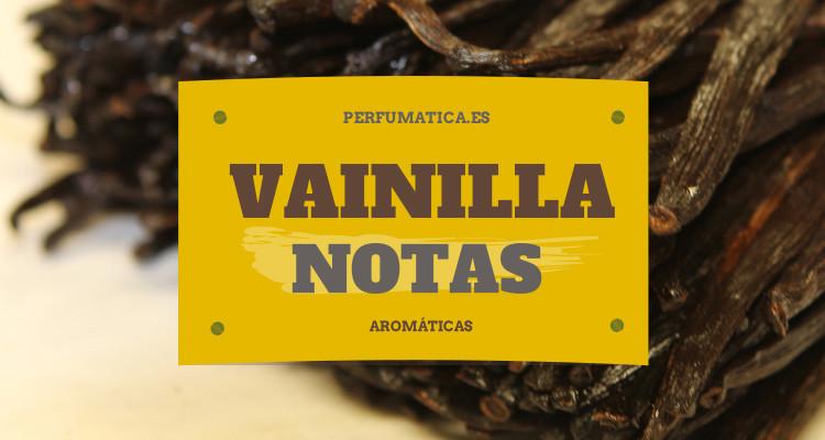 vainilla nota aromática perfumeria